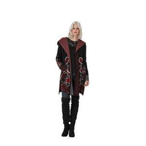 Vertigo Paisley Hooded Sweater Coat